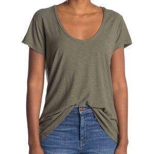 New James Perse Deep Scoop Neck T-Shirt